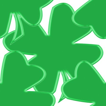 seamless tillable background with clover leaves for St. Patricks day isolated over white Stock Photo - 3089888
