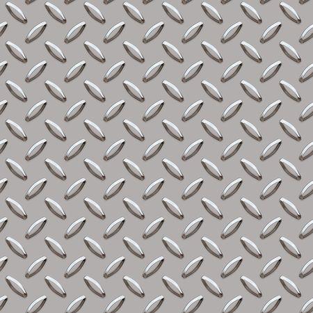 seamless roundish metal diamond pattern background Stock Photo - 3090014