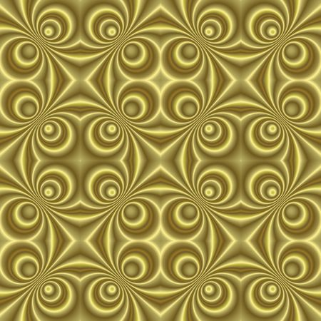 tillable: seamless tillable golden retro background with swirls, disco style