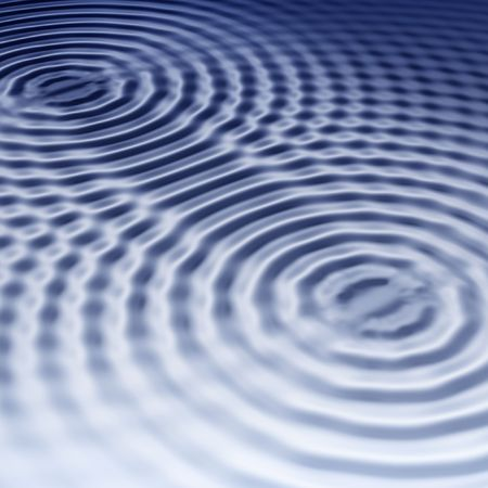 ripple effect: elegant blue ripples background with interference Stock Photo