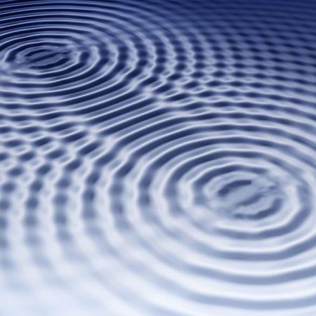 elegante azul de fondo con ondas de interferencia Foto de archivo - 3385185
