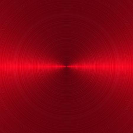금속의: circular brushed red metallic background with central, horizontal highlight