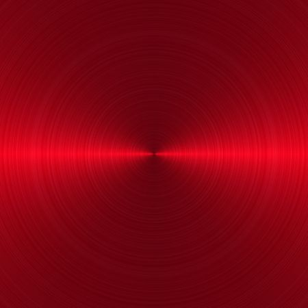 brushed aluminium: circular brushed red metallic background with central, horizontal highlight