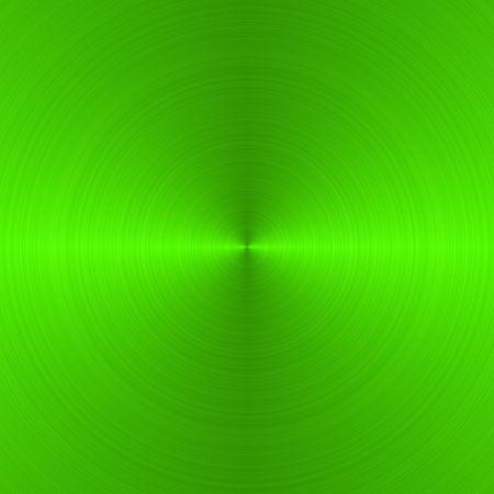 금속의: circular brushed neon green metallic background with central, vertical highlight