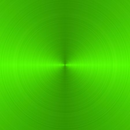 neon green: circular brushed neon green metallic background with central, vertical highlight
