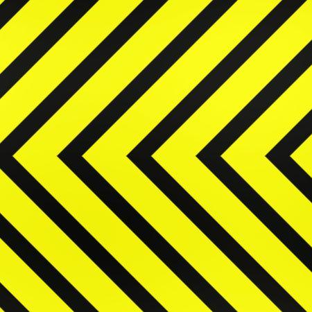 hazard stripes: clean, new warning or hazard stripes Stock Photo