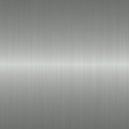 brushed dark silver metallic background with central highlight   Stock Photo