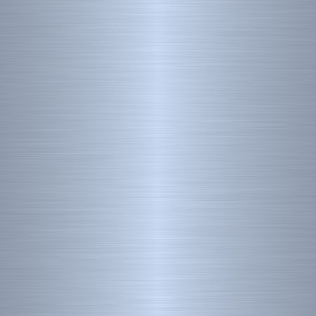 aluminium wallpaper: brushed blue silver metallic background with central highlight   Stock Photo