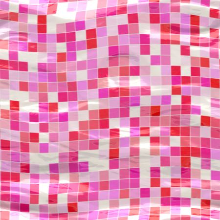 tillable: pink ceramic tiles submerged under water, seamlessly tillable
