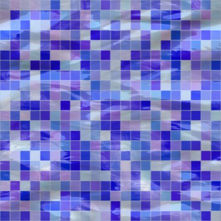 tillable: blue ceramic tiles submerged under water, seamlessly tillable Stock Photo