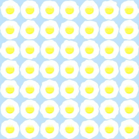sunnyside: tiny fried eggs backgound with irregular highlights, in pastel colors and seamlessly tillable Stock Photo