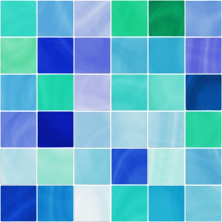 ceramic bathroom or kitchen tiles in white, blue and green tones, seamlessly tillable photo