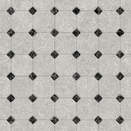 floor tiles: elegant black and white marble floor, seamlessly tillable Stock Photo