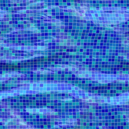 sumergido: cer�mica, piscina azulejos sumergidos bajo el agua, sin tillable Foto de archivo
