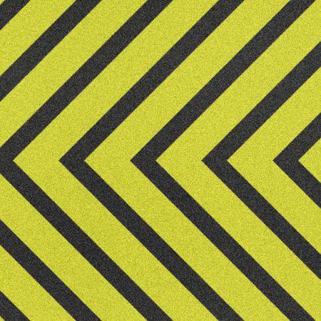 hazard stripes: coarse, new warning or hazard stripes Stock Photo
