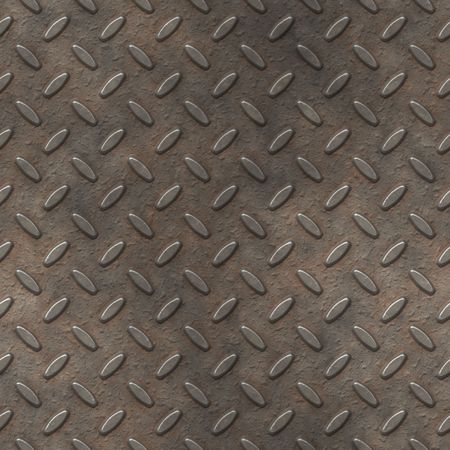 grungy metal diamond plate, seamlessly tillable Stock Photo - 3395067