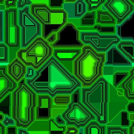 tillable: neon green techno, circuit background, seamlessly tillable Stock Photo