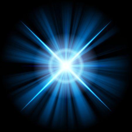blue star or supernova over black Stock Photo - 3807882