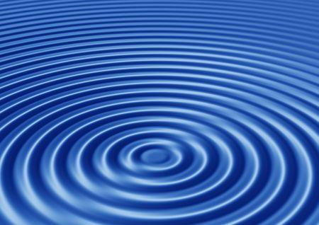 élégant résumé des ondulations concentriques bleu avec des interférences Banque d'images