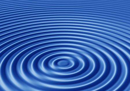 ripple effect:  elegant abstract concentric blue ripples with interference Stock Photo