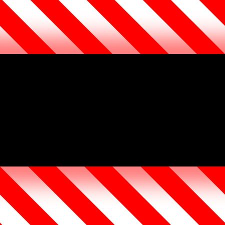 new red and white warning  hazard framed background  photo