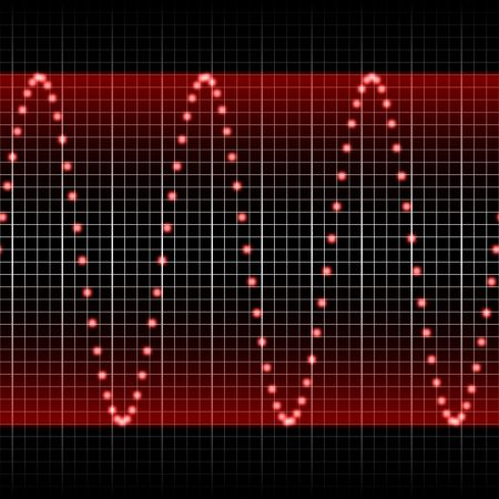 pulsing: digitally created sound wave pattern, seamlessly tillable horizontally Stock Photo