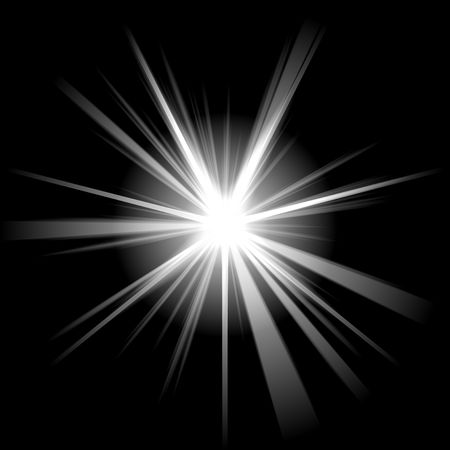 white star or supernova over black Stock Photo - 3807878