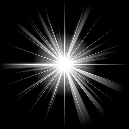 white star or supernova over black Stock Photo - 3807912