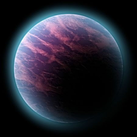 spacial: 3d rendered planet, great as design element, over a black background, global warming concept