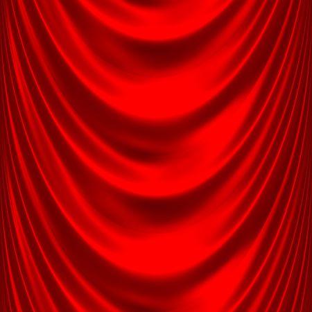 elegant satin or silk, red drapes, very smooth  Stock Photo - 3807940
