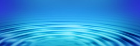 ripple effect: elegant big blue concentric ripples on a banner or header   Stock Photo