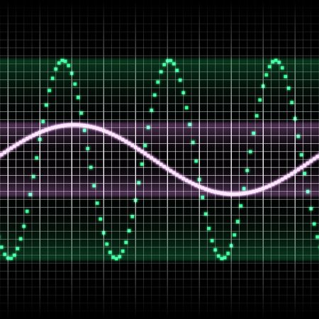 vibrations: digitally created sound wave pattern, seamlessly tillable
