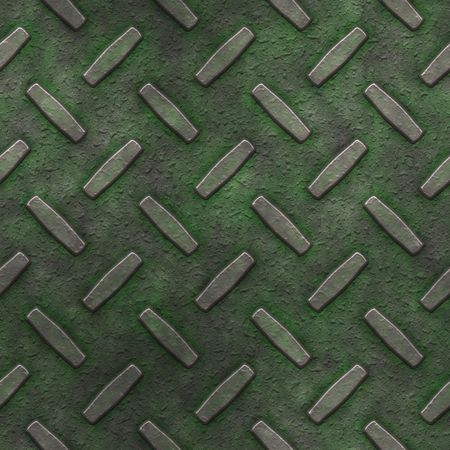 mossy, grungy metal diamond plate, seamlessly tillable Stock Photo - 3815132