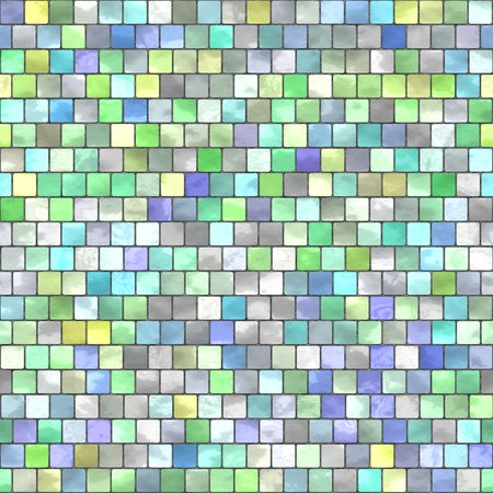 tillable: ceramic tiles in pastel tones, seamlessly tillable as a pattern Stock Photo