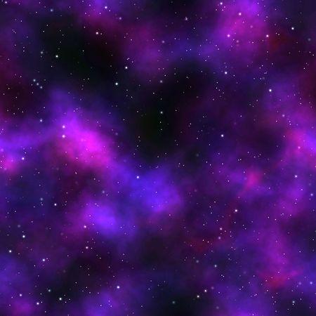 오로라: night sky with tiny stars and Aurora Borealis, tiles seamlessly as a pattern 스톡 사진