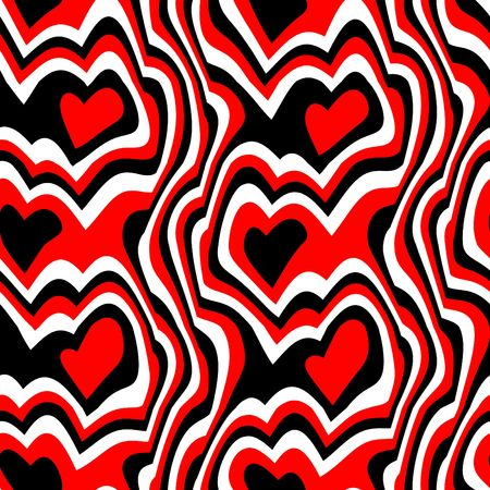red black hearts background, will tile seamlessly as a pattern photo