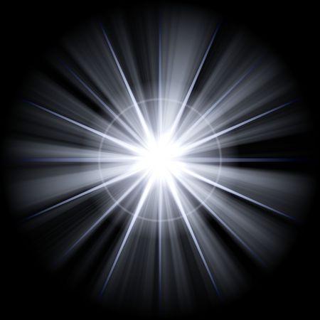 white star or supernova over black Stock Photo - 3817482