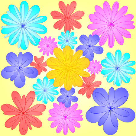 flourishing: abstract spring flowers background Illustration