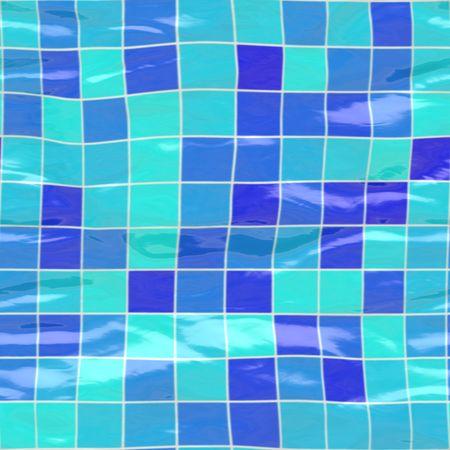 tillable: big blue ceramic tiles submerged under water, seamlessly tillable