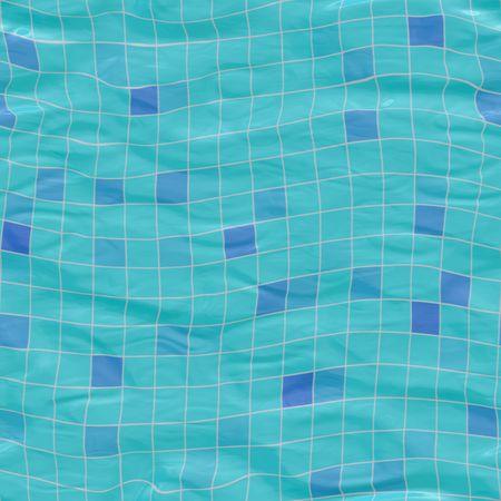 sumergido: de tama�o mediano cer�mica azul sumergidas bajo el agua, sin tillable