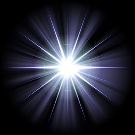 white blue star or supernova over black Stock Photo - 3849442