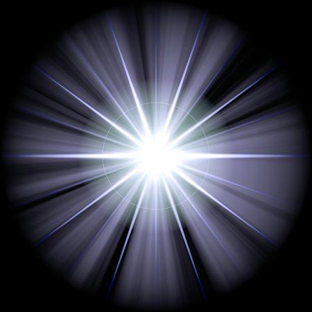 white blue star or supernova over black Stock Photo - 3849455