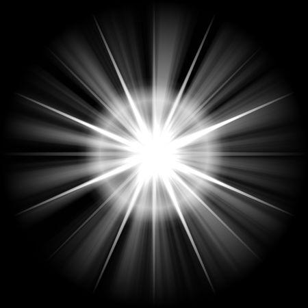 white star or supernova over black  Stock Photo - 3849441