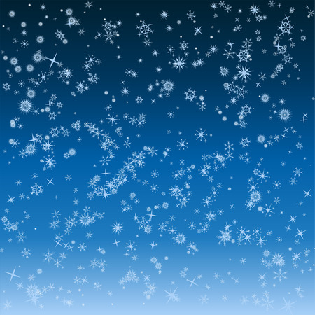 falling snowflakes winter background Vector