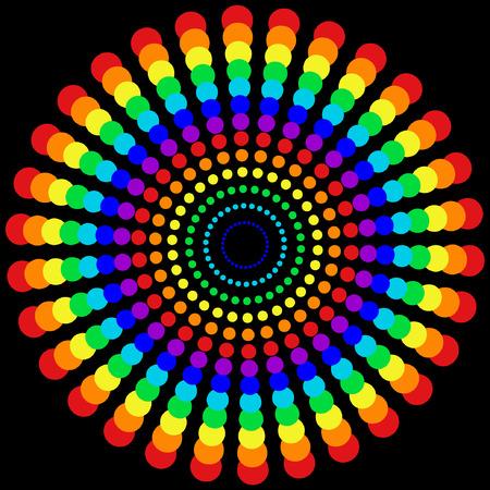 arco iris vector: arco iris patr�n de puntos Vectores