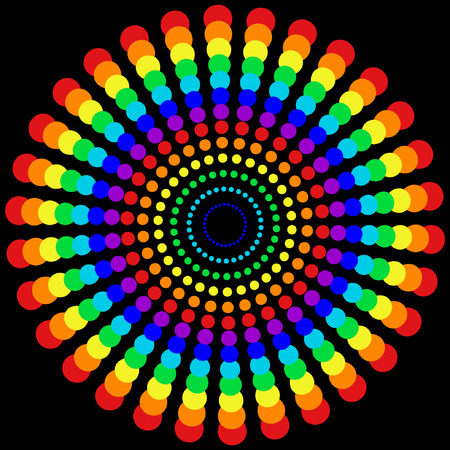 rainbow circle:  rainbow dots pattern Illustration