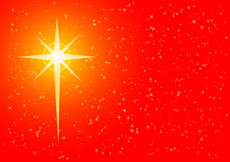 christmas religious: Christmas background with cross shaped star