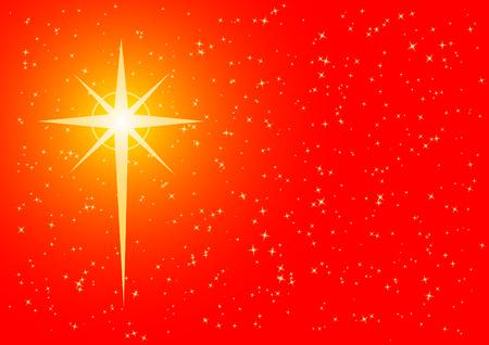 Fond de Noël avec étoile en forme de croix