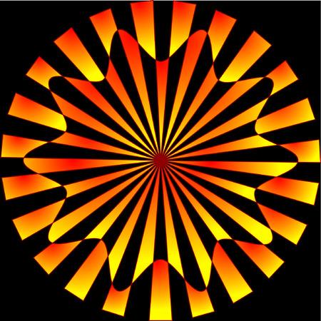 red golden starburst over black Stock Vector - 3853778