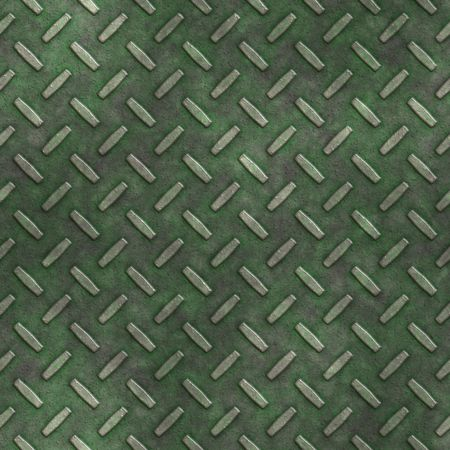 mossy, grungy metal diamond plate, seamlessly tillable Stock Photo - 3905415